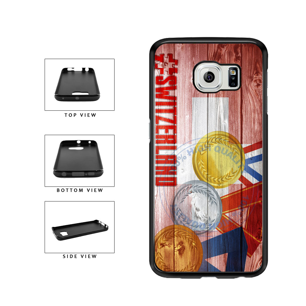 Sport Games Hashtag Team Switzerland #Switzerland TPU Rubber SILICONE Phone Case Back Cover For Samsung Galaxy S6 Edge G925 includes BleuReign(TM) Cloth and Warranty Label