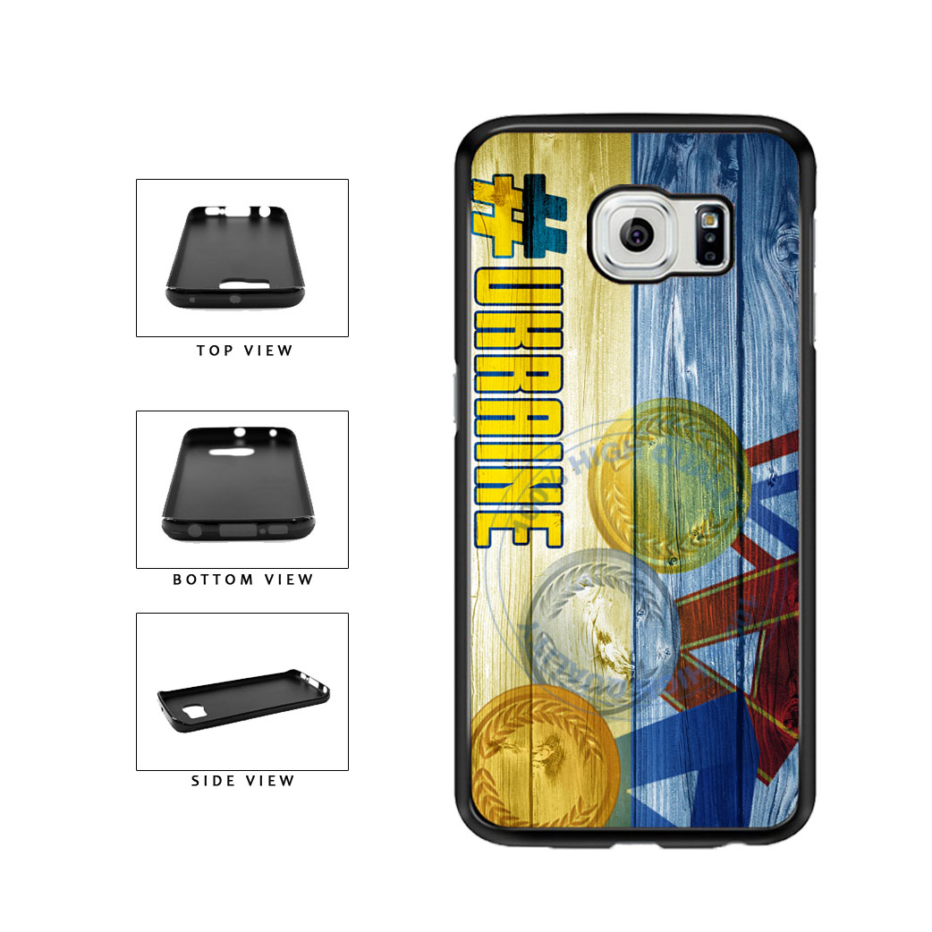 Sport Games Hashtag Team Ukraine #Ukraine TPU Rubber SILICONE Phone Case Back Cover For Samsung Galaxy S6 Edge G925 includes BleuReign(TM) Cloth and Warranty Label