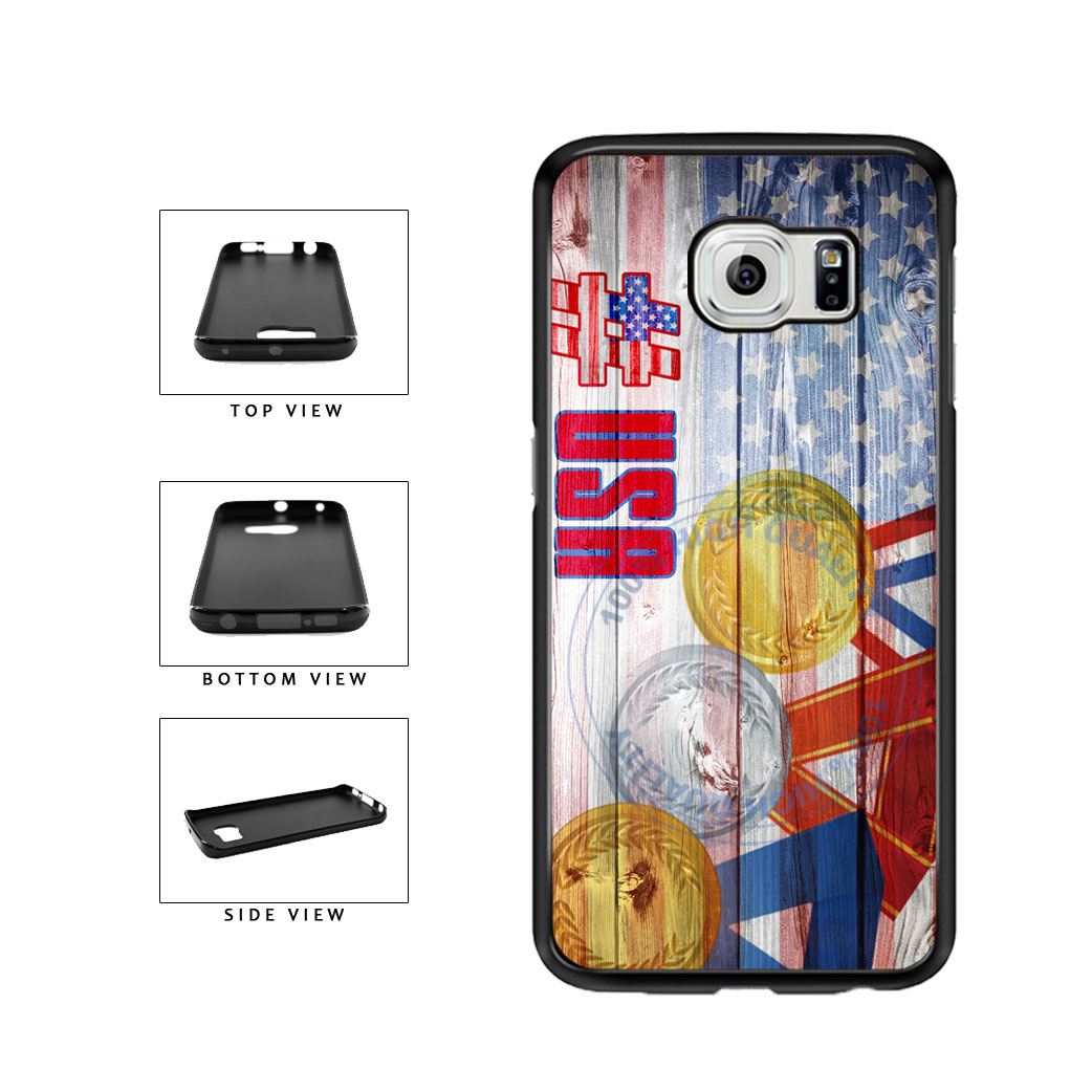 Sport Games Hashtag Team USA #USA TPU Rubber SILICONE Phone Case Back Cover For Samsung Galaxy S6 Edge G925 includes BleuReign(TM) Cloth and Warranty Label