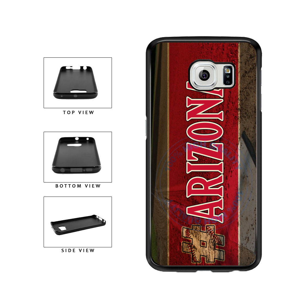 Hashtag Arizona #Arizona Baseball Team  TPU Rubber SILICONE Phone Case Back Cover For Samsung Galaxy S6 Edge G925 includes BleuReign(TM) Cloth and Warranty Label