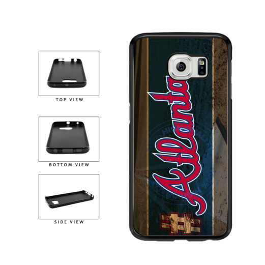 Hashtag Atlanta #Atlanta Baseball Team  TPU Rubber SILICONE Phone Case Back Cover For Samsung Galaxy S6 Edge G925 includes BleuReign(TM) Cloth and Warranty Label