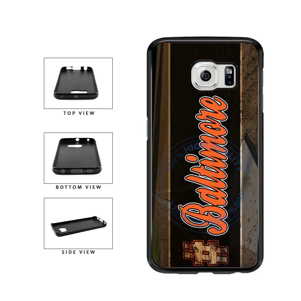Hashtag Baltimore #Baltimore Baseball Team  TPU Rubber SILICONE Phone Case Back Cover For Samsung Galaxy S6 Edge G925 includes BleuReign(TM) Cloth and Warranty Label