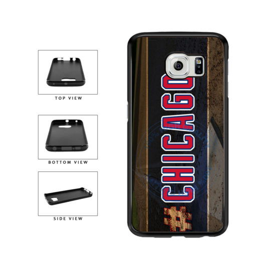 Hashtag Chicago #Chicago Blue and Red Baseball Team  TPU Rubber SILICONE Phone Case Back Cover For Samsung Galaxy S6 Edge G925 includes BleuReign(TM) Cloth and Warranty Label