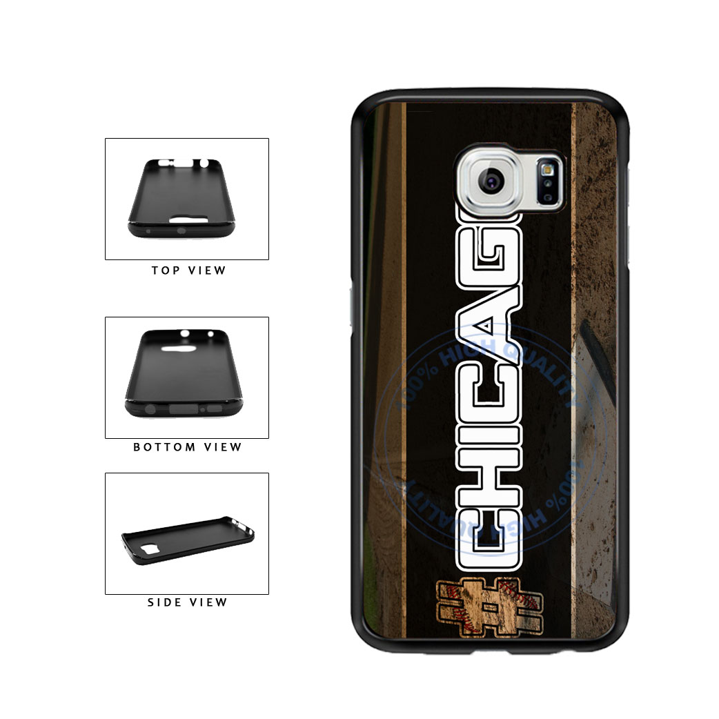 Hashtag Chicago #Chicago White Baseball Team  TPU Rubber SILICONE Phone Case Back Cover For Samsung Galaxy S6 Edge G925 includes BleuReign(TM) Cloth and Warranty Label