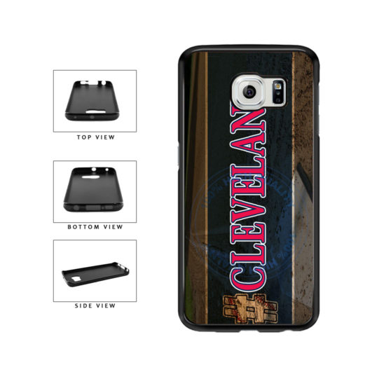 Hashtag Cleveland #Cleveland Baseball Team  TPU Rubber SILICONE Phone Case Back Cover For Samsung Galaxy S6 Edge G925 includes BleuReign(TM) Cloth and Warranty Label