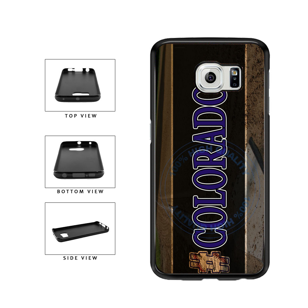 Hashtag Colorado #Colorado Baseball Team  TPU Rubber SILICONE Phone Case Back Cover For Samsung Galaxy S6 Edge G925 includes BleuReign(TM) Cloth and Warranty Label