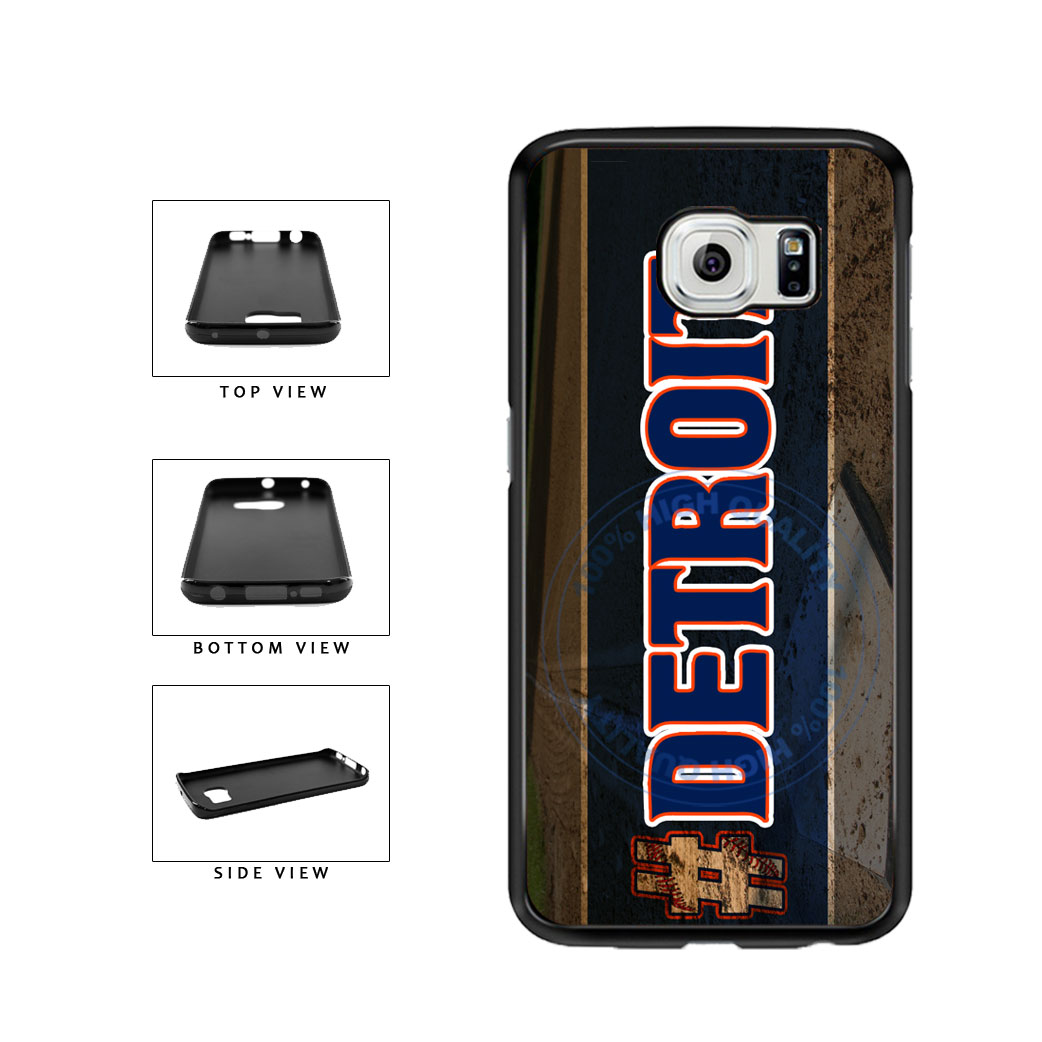 Hashtag Detroit #Detroit Baseball Team  TPU Rubber SILICONE Phone Case Back Cover For Samsung Galaxy S6 Edge G925 includes BleuReign(TM) Cloth and Warranty Label