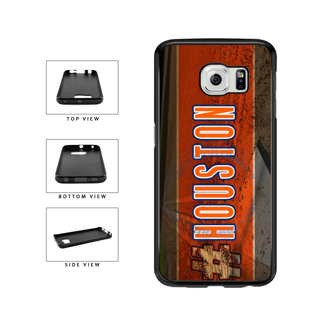 Hashtag Houston #Houston Baseball Team  TPU Rubber SILICONE Phone Case Back Cover For Samsung Galaxy S6 Edge G925 includes BleuReign(TM) Cloth and Warranty Label