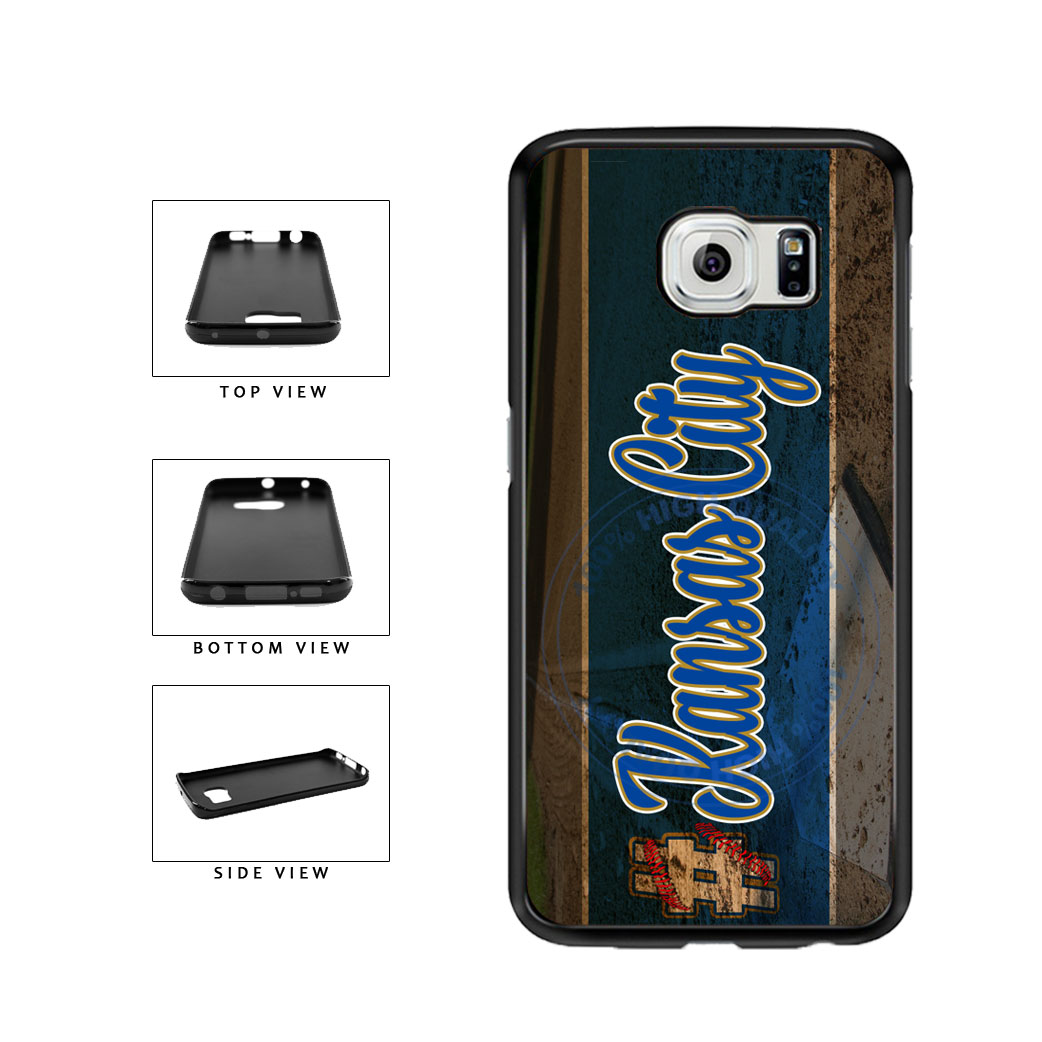 Hashtag Kansas City #KansasCity Baseball Team  TPU Rubber SILICONE Phone Case Back Cover For Samsung Galaxy S6 Edge G925 includes BleuReign(TM) Cloth and Warranty Label