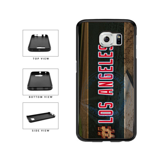 Hashtag Los Angeles #LosAngeles Anaheim Baseball Team TPU Rubber SILICONE Phone Case Back Cover For Samsung Galaxy S6 Edge G925 includes BleuReign(TM) Cloth and Warranty Label