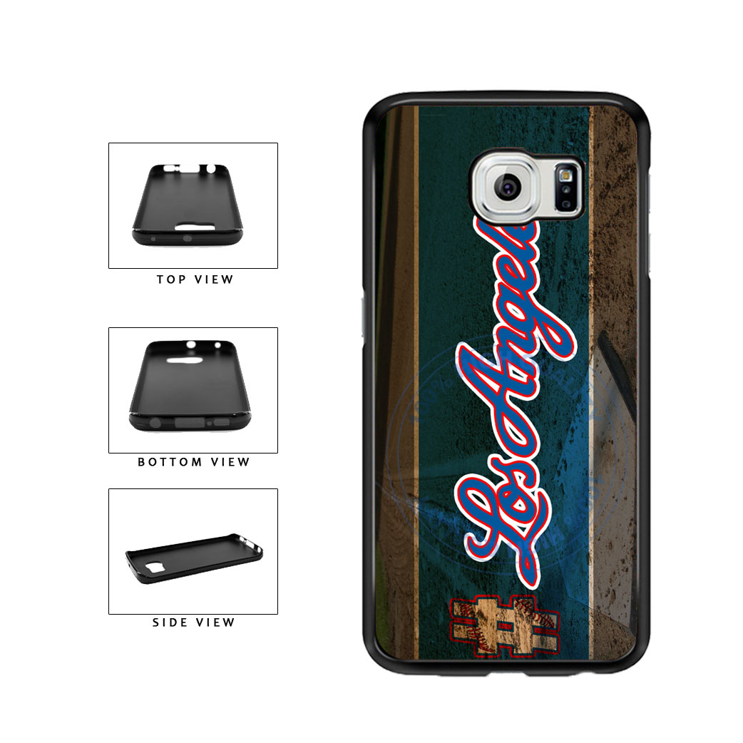 Hashtag Los Angeles #LosAngeles Blue Baseball Team  TPU Rubber SILICONE Phone Case Back Cover For Samsung Galaxy S6 Edge G925 includes BleuReign(TM) Cloth and Warranty Label