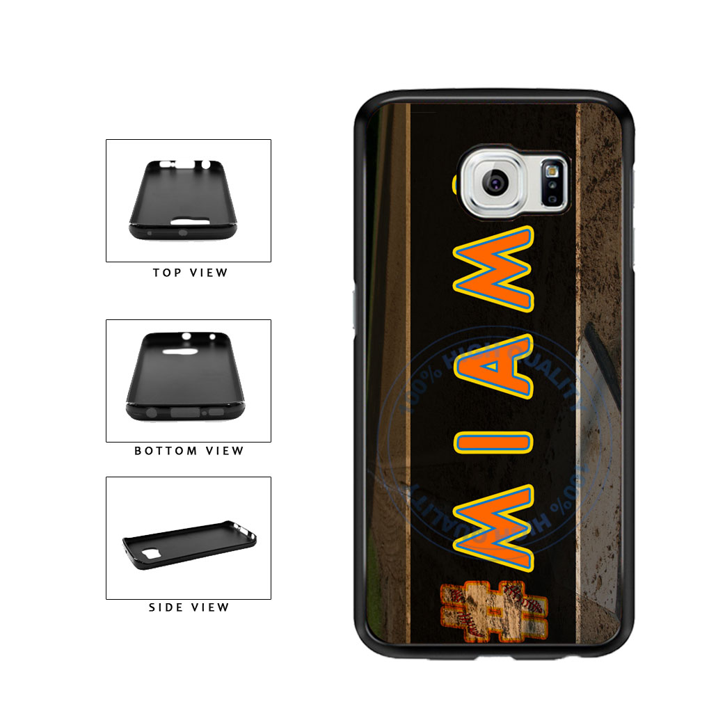 Hashtag Miami #Miami Baseball Team  TPU Rubber SILICONE Phone Case Back Cover For Samsung Galaxy S6 Edge G925 includes BleuReign(TM) Cloth and Warranty Label