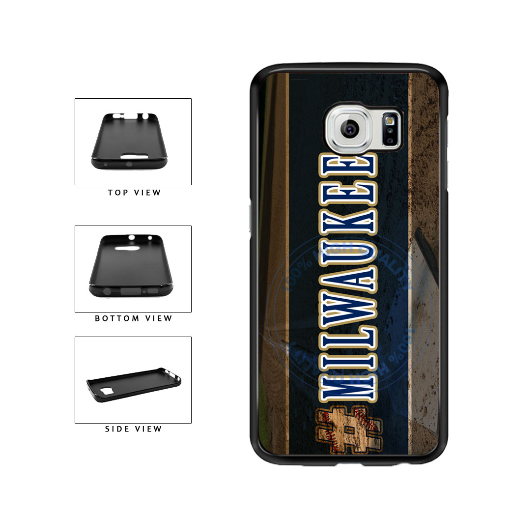 Hashtag Milwaukee #Milwaukee Baseball Team  TPU Rubber SILICONE Phone Case Back Cover For Samsung Galaxy S6 Edge G925 includes BleuReign(TM) Cloth and Warranty Label