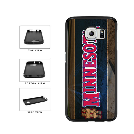 Hashtag Minnesota #Minnesota Baseball Team  TPU Rubber SILICONE Phone Case Back Cover For Samsung Galaxy S6 Edge G925 includes BleuReign(TM) Cloth and Warranty Label