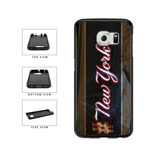 Hashtag New York #NewYork Blue Baseball Team  TPU Rubber SILICONE Phone Case Back Cover For Samsung Galaxy S6 Edge G925 includes BleuReign(TM) Cloth and Warranty Label