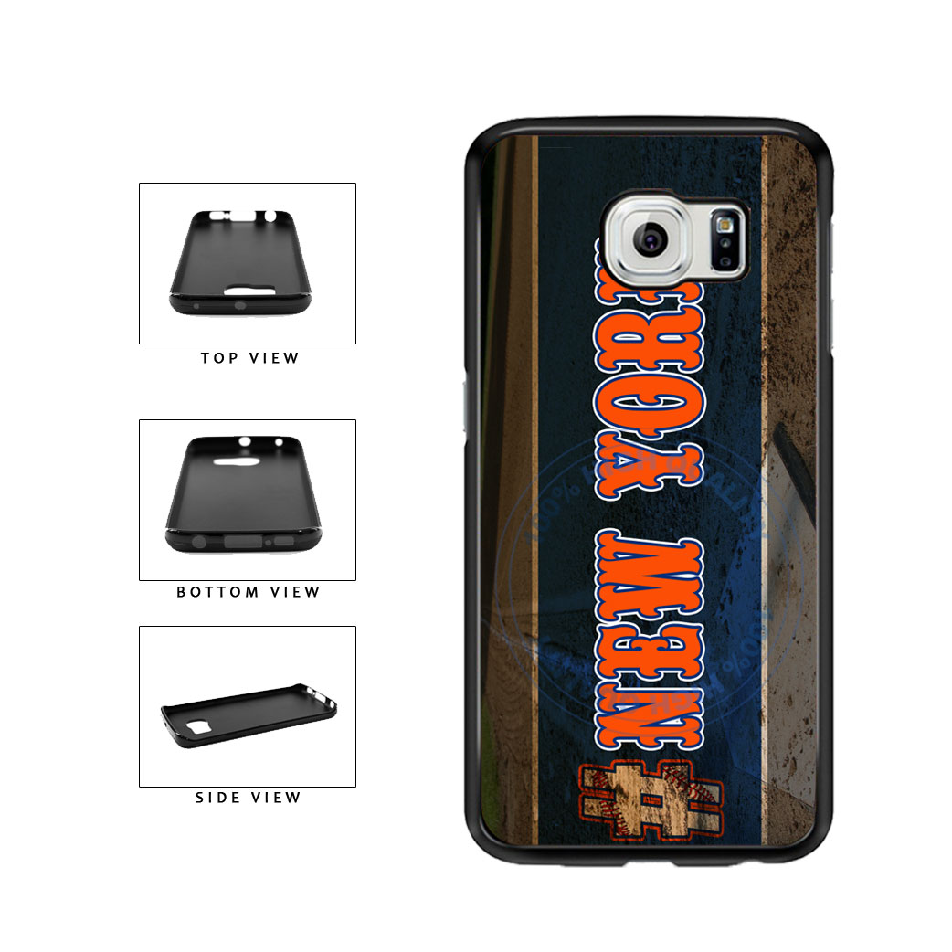 Hashtag New York #NewYork Orange Baseball Team  TPU Rubber SILICONE Phone Case Back Cover For Samsung Galaxy S6 Edge G925 includes BleuReign(TM) Cloth and Warranty Label