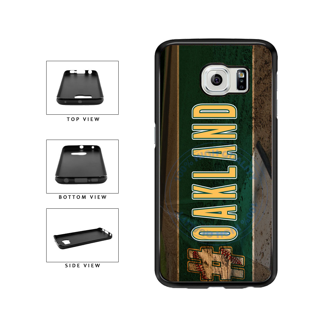 Hashtag Oakland #Oakland Baseball Team  TPU Rubber SILICONE Phone Case Back Cover For Samsung Galaxy S6 Edge G925 includes BleuReign(TM) Cloth and Warranty Label