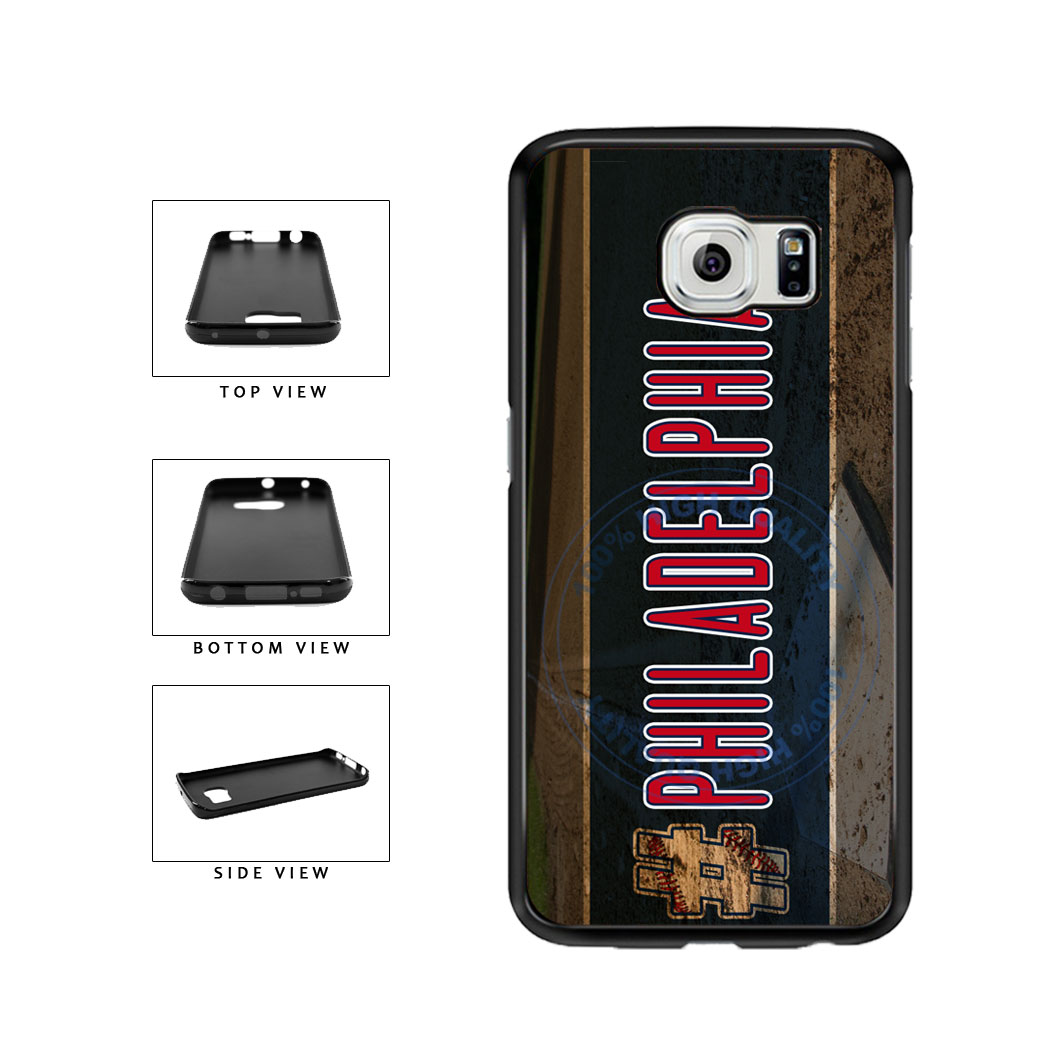 Hashtag Philadelphia #Philadelphia Baseball Team  TPU Rubber SILICONE Phone Case Back Cover For Samsung Galaxy S6 Edge G925 includes BleuReign(TM) Cloth and Warranty Label