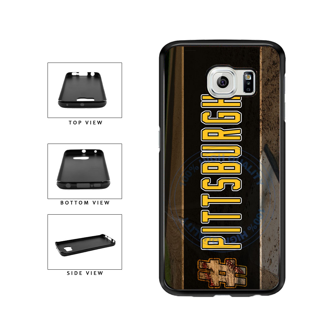 Hashtag Pittsburgh #Pittsburgh Baseball Team  TPU Rubber SILICONE Phone Case Back Cover For Samsung Galaxy S6 Edge G925 includes BleuReign(TM) Cloth and Warranty Label