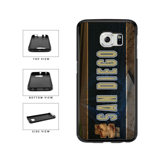 Hashtag San Diego #SanDiego Baseball Team  TPU Rubber SILICONE Phone Case Back Cover For Samsung Galaxy S6 Edge G925 includes BleuReign(TM) Cloth and Warranty Label