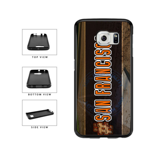 Hashtag San Francisco #SanFrancisco Baseball Team  TPU Rubber SILICONE Phone Case Back Cover For Samsung Galaxy S6 Edge G925 includes BleuReign(TM) Cloth and Warranty Label