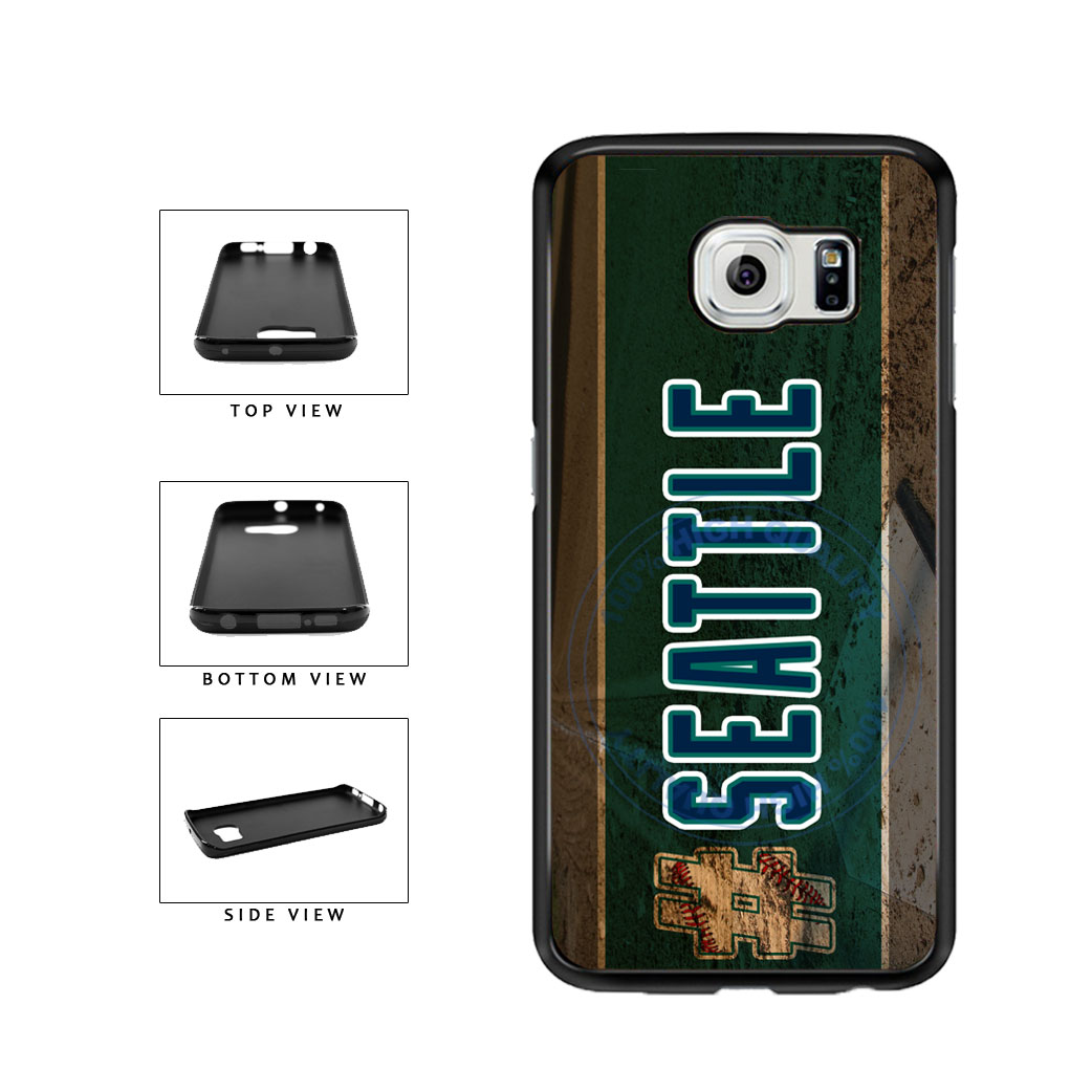 Hashtag Seattle #Seattle Baseball Team  TPU Rubber SILICONE Phone Case Back Cover For Samsung Galaxy S6 Edge G925 includes BleuReign(TM) Cloth and Warranty Label