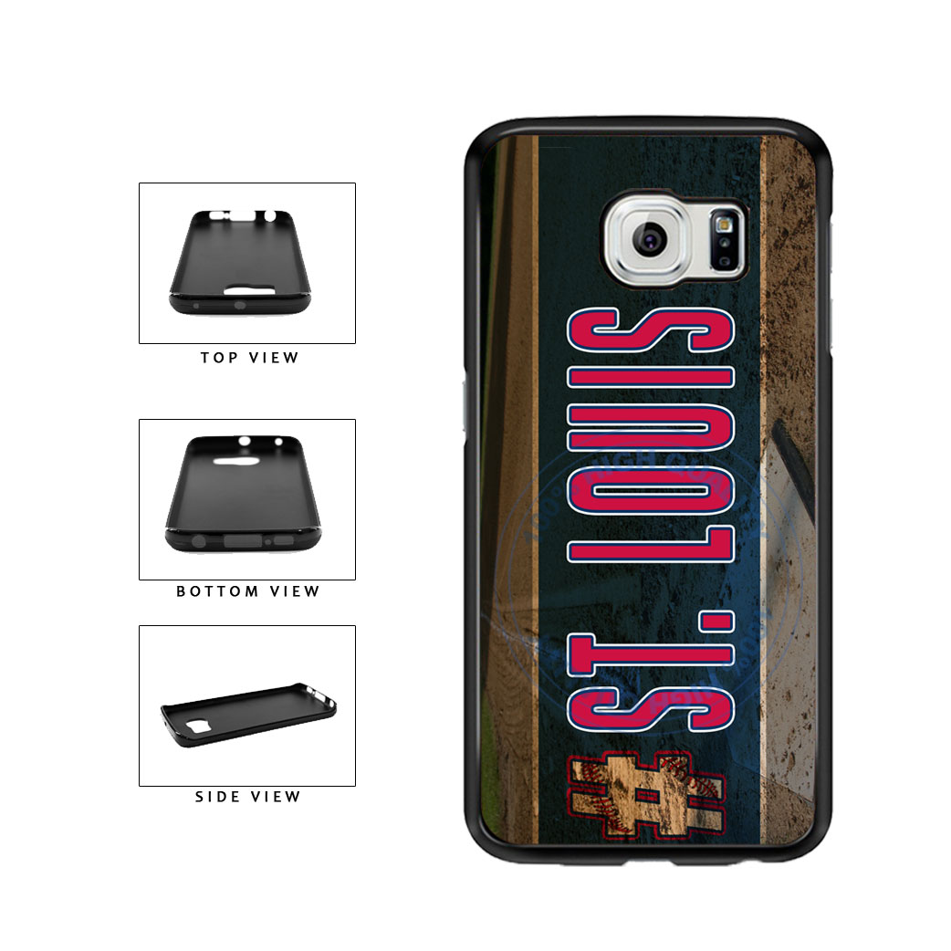 Hashtag St Louis #StLouis Baseball Team TPU Rubber SILICONE Phone Case Back Cover For Samsung Galaxy S6 Edge G925 includes BleuReign(TM) Cloth and Warranty Label