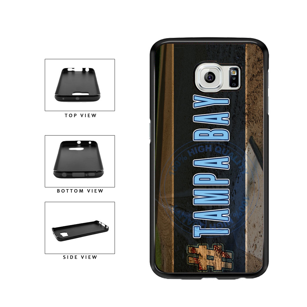 Hashtag Tampa Bay #TampaBay Baseball Team  TPU Rubber SILICONE Phone Case Back Cover For Samsung Galaxy S6 Edge G925 includes BleuReign(TM) Cloth and Warranty Label