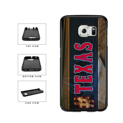 Hashtag Texas #Texas Baseball Team  TPU Rubber SILICONE Phone Case Back Cover For Samsung Galaxy S6 Edge G925 includes BleuReign(TM) Cloth and Warranty Label