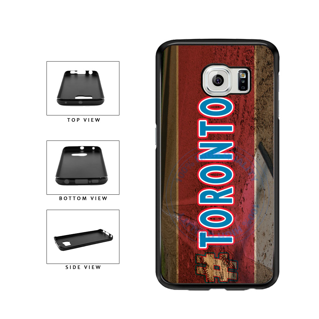 Hashtag Toronto #Toronot Baseball Team  TPU Rubber SILICONE Phone Case Back Cover For Samsung Galaxy S6 Edge G925 includes BleuReign(TM) Cloth and Warranty Label