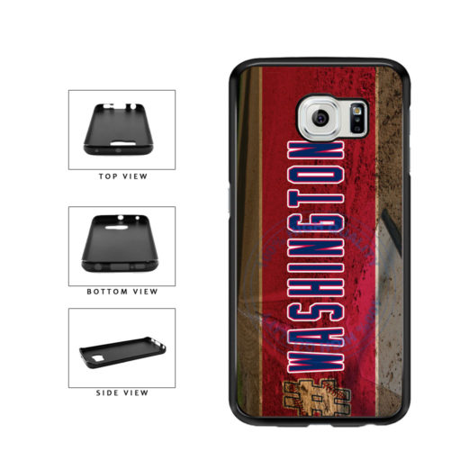 Hashtag Washington #Washington Baseball Team  TPU Rubber SILICONE Phone Case Back Cover For Samsung Galaxy S6 Edge G925 includes BleuReign(TM) Cloth and Warranty Label