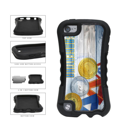 Sport Games Hashtag Team Argentina #Argentina 2-Piece Dual Layer Phone Case Back Cover For Apple iPod Touch 5th Generation includes BleuReign(TM) Cloth and Warranty Label
