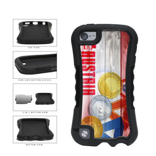 Sport Games Hashtag Team Austria #Austria 2-Piece Dual Layer Phone Case Back Cover For Apple iPod Touch 5th Generation includes BleuReign(TM) Cloth and Warranty Label