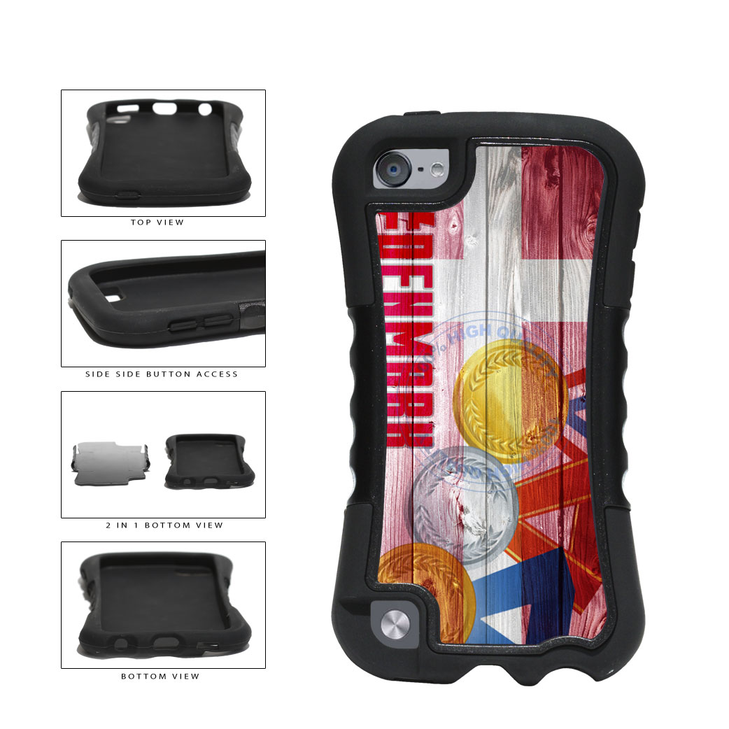 Sport Games Hashtag Team Denmark #Denmark 2-Piece Dual Layer Phone Case Back Cover For Apple iPod Touch 5th Generation includes BleuReign(TM) Cloth and Warranty Label