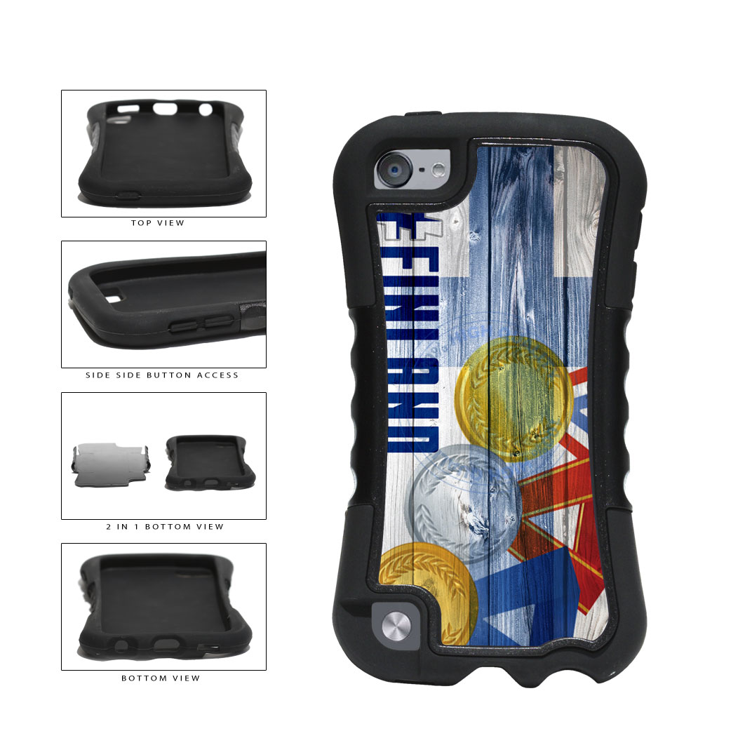 Sport Games Hashtag Team Finland #Finland 2-Piece Dual Layer Phone Case Back Cover For Apple iPod Touch 5th Generation includes BleuReign(TM) Cloth and Warranty Label