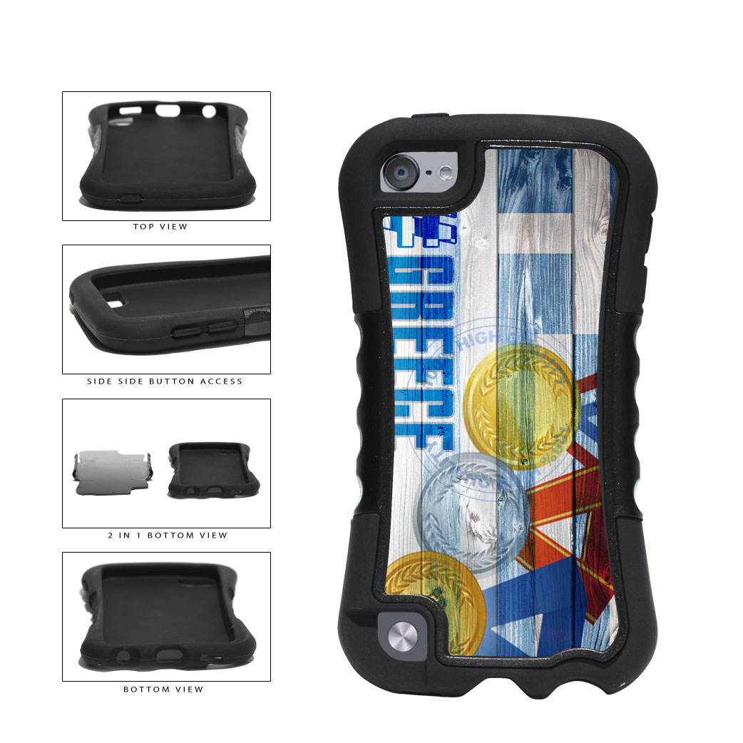 Sport Games Hashtag Team Greece #Greece 2-Piece Dual Layer Phone Case Back Cover For Apple iPod Touch 5th Generation includes BleuReign(TM) Cloth and Warranty Label