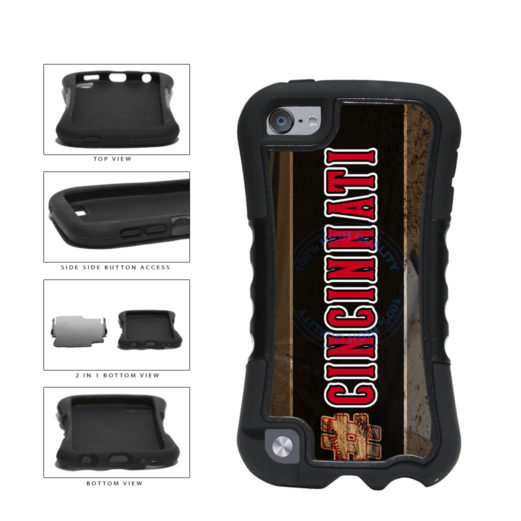Hashtag Cincinnati #Cincinnati Baseball Team  2-Piece Dual Layer Phone Case Back Cover For Apple iPod Touch 5th Generation includes BleuReign(TM) Cloth and Warranty Label