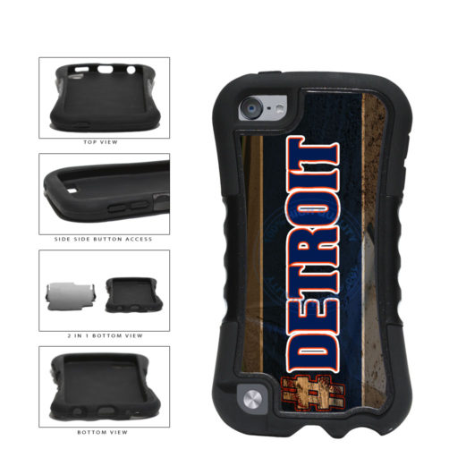 Hashtag Detroit #Detroit Baseball Team  2-Piece Dual Layer Phone Case Back Cover For Apple iPod Touch 5th Generation includes BleuReign(TM) Cloth and Warranty Label