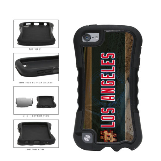 Hashtag Los Angeles #LosAngeles Anaheim Baseball Team 2-Piece Dual Layer Phone Case Back Cover For Apple iPod Touch 5th Generation includes BleuReign(TM) Cloth and Warranty Label