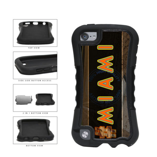 Hashtag Miami #Miami Baseball Team  2-Piece Dual Layer Phone Case Back Cover For Apple iPod Touch 5th Generation includes BleuReign(TM) Cloth and Warranty Label