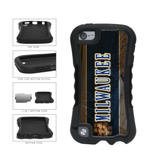 Hashtag Milwaukee #Milwaukee Baseball Team  2-Piece Dual Layer Phone Case Back Cover For Apple iPod Touch 5th Generation includes BleuReign(TM) Cloth and Warranty Label