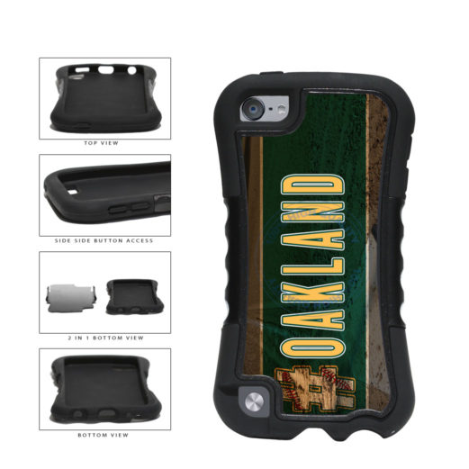 Hashtag Oakland #Oakland Baseball Team  2-Piece Dual Layer Phone Case Back Cover For Apple iPod Touch 5th Generation includes BleuReign(TM) Cloth and Warranty Label