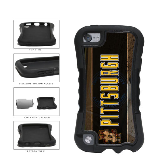 Hashtag Pittsburgh #Pittsburgh Baseball Team  2-Piece Dual Layer Phone Case Back Cover For Apple iPod Touch 5th Generation includes BleuReign(TM) Cloth and Warranty Label