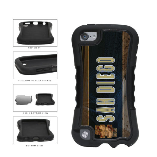 Hashtag San Diego #SanDiego Baseball Team  2-Piece Dual Layer Phone Case Back Cover For Apple iPod Touch 5th Generation includes BleuReign(TM) Cloth and Warranty Label
