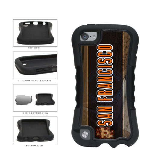 Hashtag San Francisco #SanFrancisco Baseball Team  2-Piece Dual Layer Phone Case Back Cover For Apple iPod Touch 5th Generation includes BleuReign(TM) Cloth and Warranty Label