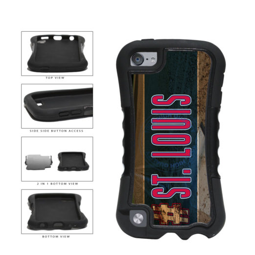 Hashtag St Louis #StLouis Baseball Team 2-Piece Dual Layer Phone Case Back Cover For Apple iPod Touch 5th Generation includes BleuReign(TM) Cloth and Warranty Label
