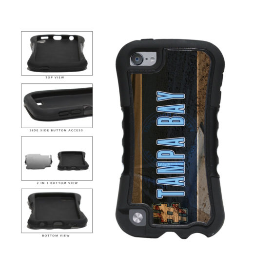 Hashtag Tampa Bay #TampaBay Baseball Team  2-Piece Dual Layer Phone Case Back Cover For Apple iPod Touch 5th Generation includes BleuReign(TM) Cloth and Warranty Label