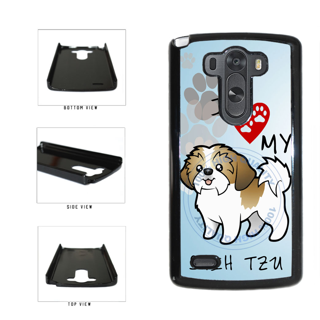 I Love My Shih Tzu Dog Lover Plastic Phone Case Back Cover For LG G3 D855 includes BleuReign(TM) Cloth and Warranty Label