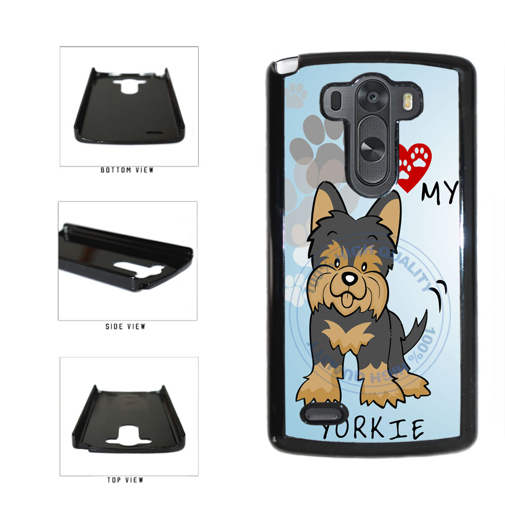 I Love My Yorkie Dog Lover Plastic Phone Case Back Cover For LG G3 D855 includes BleuReign(TM) Cloth and Warranty Label