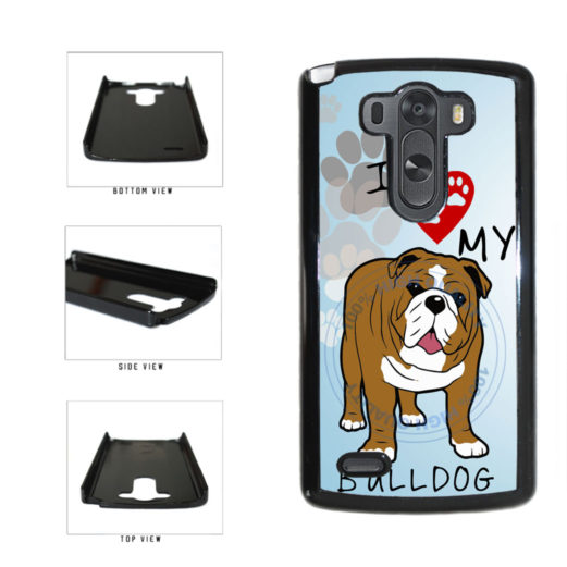 I Love My Bulldog Dog Lover Plastic Phone Case Back Cover For LG G3 D855 includes BleuReign(TM) Cloth and Warranty Label